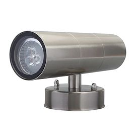 China Double Side Round External LED Wall Lights , Full Stainless Steel Garden Lights 3W / 5W factory