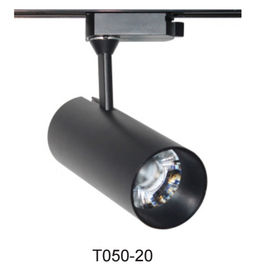 China 65 * 160mm High Power LED Track Light , White / Black Color Led Track Lighting factory